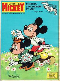 Cover Thumbnail for Le Journal de Mickey (Hachette, 1952 series) #737
