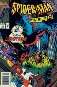 Cover Thumbnail for Spider-Man 2099 (Marvel, 1992 series) #14 [Newsstand]