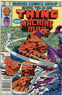 Cover Thumbnail for Marvel Two-in-One (Marvel, 1974 series) #93 [Canadian]