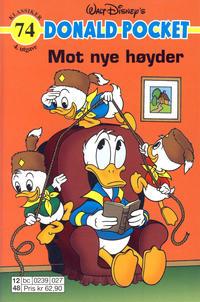 Cover Thumbnail for Donald Pocket (Hjemmet / Egmont, 1968 series) #74 - Mot nye høyder [4. utgave bc 0239 027]