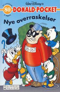 Cover Thumbnail for Donald Pocket (Hjemmet / Egmont, 1968 series) #80 - Nye overraskelser [3. utgave bc 0239 027]