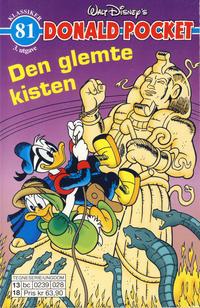 Cover Thumbnail for Donald Pocket (Hjemmet / Egmont, 1968 series) #81 - Den glemte kisten [3. utgave bc 0239 028]