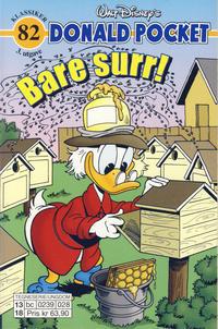 Cover Thumbnail for Donald Pocket (Hjemmet / Egmont, 1968 series) #82 - Bare surr! [3. utgave bc 0239 028]