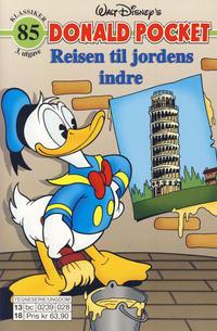 Cover Thumbnail for Donald Pocket (Hjemmet / Egmont, 1968 series) #85 - Reisen til jordens indre [3. utgave bc 0239 028]