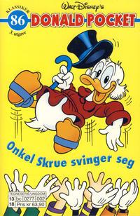 Cover Thumbnail for Donald Pocket (Hjemmet / Egmont, 1968 series) #86 - Onkel Skrue svinger seg [3. utgave bc 0277 002]