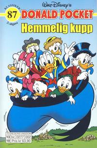 Cover Thumbnail for Donald Pocket (Hjemmet / Egmont, 1968 series) #87 - Hemmelig kupp [3. utgave bc 0277 002]