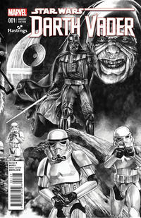 Cover Thumbnail for Darth Vader (Marvel, 2015 series) #1 [Hastings Exclusive Mico Suayan Black and White Variant]