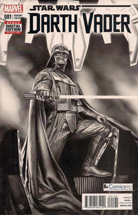 Cover Thumbnail for Darth Vader (Marvel, 2015 series) #1 [ComicsPro Exclusive Adi Granov Black and White Variant]