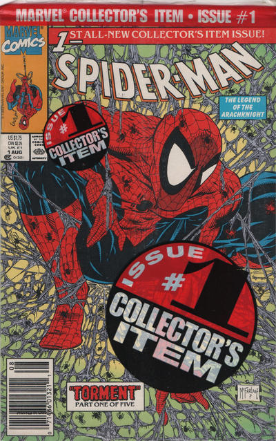 Cover for Spider-Man (Marvel, 1990 series) #1 [Direct Edition]