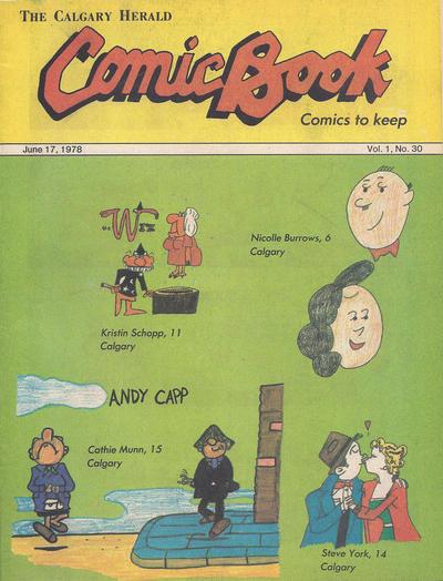 Cover for The Calgary Herald Comic Book (Calgary Herald, 1977 series) #v1#30