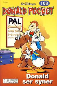 Cover Thumbnail for Donald Pocket (Hjemmet / Egmont, 1968 series) #108 - Donald ser syner [2. utgave bc 239 02]