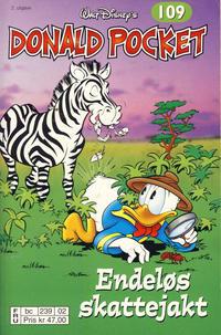 Cover Thumbnail for Donald Pocket (Hjemmet / Egmont, 1968 series) #109 - Endeløs skattejakt [2. utgave bc 239 02]