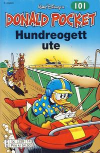 Cover Thumbnail for Donald Pocket (Hjemmet / Egmont, 1968 series) #101 - Hundreogett ute [3. utgave bc 239 14]