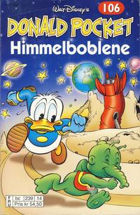 Cover Thumbnail for Donald Pocket (Hjemmet / Egmont, 1968 series) #106 - Himmelboblene [3. utgave bc 239 14]