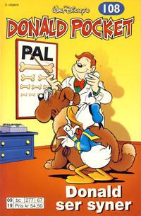 Cover Thumbnail for Donald Pocket (Hjemmet / Egmont, 1968 series) #108 - Donald ser syner [3. utgave bc 277 67]