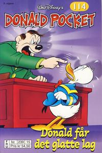 Cover Thumbnail for Donald Pocket (Hjemmet / Egmont, 1968 series) #114 - Donald får det glatte lag [3. utgave bc 239 15]