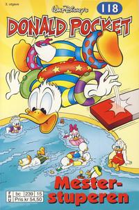 Cover Thumbnail for Donald Pocket (Hjemmet / Egmont, 1968 series) #118 - Mesterstuperen [3. utgave bc 239 15]