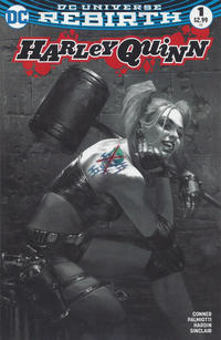 Cover Thumbnail for Harley Quinn (DC, 2016 series) #1 [Bulletproof Comics and Games Exclusive Gabriele Dell'Otto Black and White Variant]