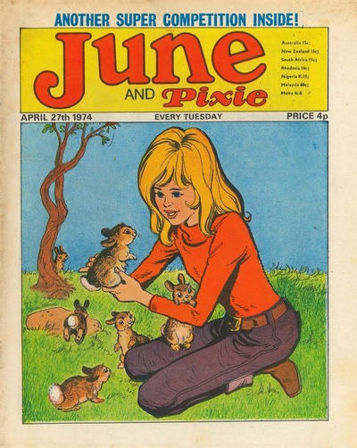 Cover for June and Pixie (IPC, 1973 series) #27 April 1974