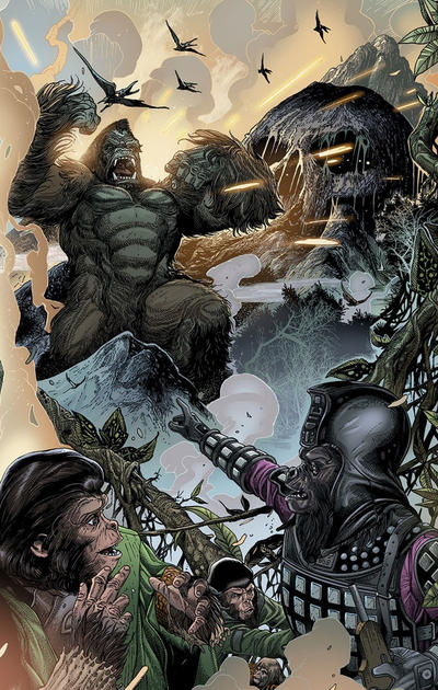 Cover for Kong on the Planet of the Apes (Boom! Studios, 2017 series) #2 [Cover A Mike Huddleston]