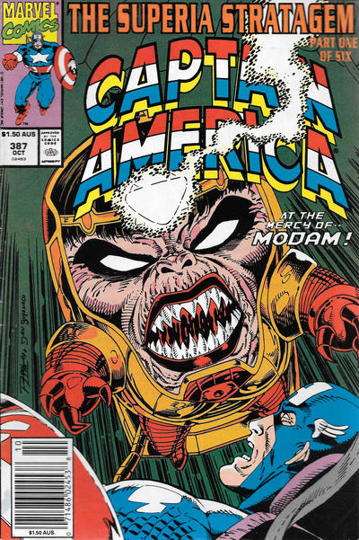 Cover for Captain America (Marvel, 1968 series) #387 [Newsstand]