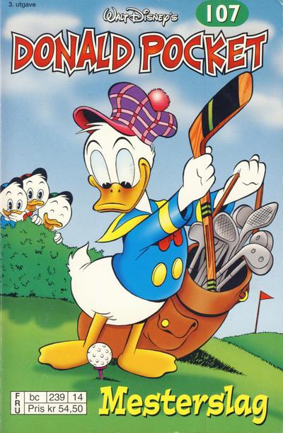 Cover for Donald Pocket (Hjemmet / Egmont, 1968 series) #107 - Donald Duck i mesterslag [1. opplag]