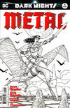 Cover for Dark Nights: Metal (DC, 2017 series) #1 [Fried Pie Comics Cliff Chiang Black and White Cover]