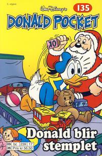 Cover Thumbnail for Donald Pocket (Hjemmet / Egmont, 1968 series) #135 - Donald blir stemplet [3. utgave bc 239 17]