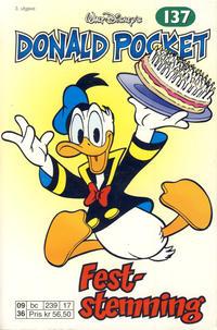 Cover Thumbnail for Donald Pocket (Hjemmet / Egmont, 1968 series) #137 - Feststemning [3. utgave bc 239 17]