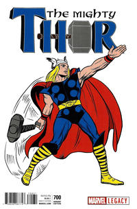 Cover Thumbnail for Mighty Thor (Marvel, 2016 series) #700 [Incentive Jack Kirby 1965 T-Shirt Cover]