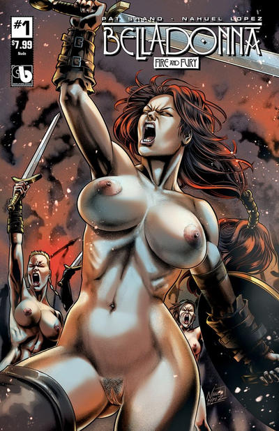 Cover for Belladonna: Fire and Fury (Avatar Press, 2017 series) #1 [Superior Seductive Nude Variant]