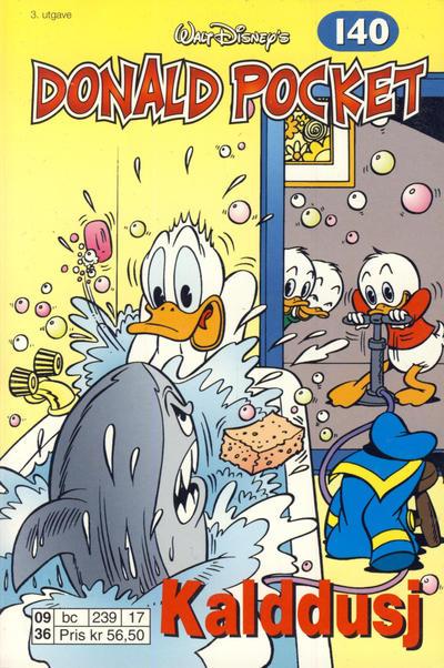 Cover for Donald Pocket (Hjemmet / Egmont, 1968 series) #140 - Kalddusj [3. utgave bc 239 17]