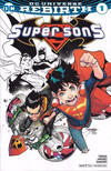 Cover for Super Sons (DC, 2017 series) #1 [ComicsPro Jorge Jimenez Partial Color Cover]