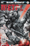 Cover for Dark Nights: Metal (DC, 2017 series) #1 [Most Good Hobby Eric Basaldua Black and White Cover]
