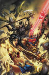 Cover for Dark Nights: Metal (DC, 2017 series) #1 [Most Good Hobby Eric Basaldua Virgin Cover]
