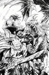 Cover Thumbnail for Dark Nights: Metal (2017 series) #1 [Unknown Comics Exclusive Tyler Kirkham Color Your Own Black and White Cover]