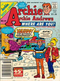 Cover Thumbnail for Archie... Archie Andrews, Where Are You? Comics Digest Magazine (Archie, 1977 series) #54 [Newsstand]