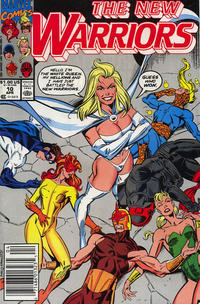Cover Thumbnail for The New Warriors (Marvel, 1990 series) #10 [Newsstand]