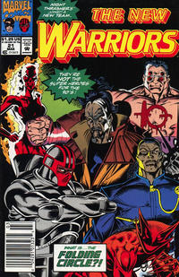 Cover Thumbnail for The New Warriors (Marvel, 1990 series) #21 [Newsstand]