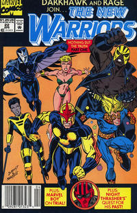 Cover Thumbnail for The New Warriors (Marvel, 1990 series) #22 [Newsstand]