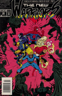Cover Thumbnail for The New Warriors (Marvel, 1990 series) #34 [Newsstand]