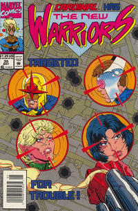 Cover Thumbnail for The New Warriors (Marvel, 1990 series) #35 [Newsstand]
