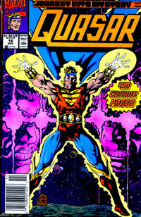 Cover Thumbnail for Quasar (Marvel, 1989 series) #16 [Newsstand]