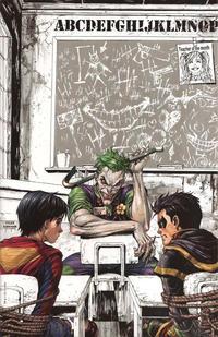 """Cover Thumbnail for Super Sons (DC, 2017 series) #1 [Unknown Comics Tyler Kirkham """"Joker"""" Virgin Art Cover]"""