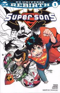 Cover Thumbnail for Super Sons (DC, 2017 series) #1 [ComicsPro Jorge Jimenez Partial Color Cover]