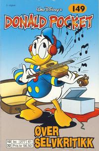 Cover Thumbnail for Donald Pocket (Hjemmet / Egmont, 1968 series) #149 - Donald øver selvkritikk [3. utgave bc 277 61]