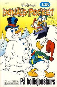 Cover Thumbnail for Donald Pocket (Hjemmet / Egmont, 1968 series) #148 - På kollisjonskurs [3. utgave bc 239 18]