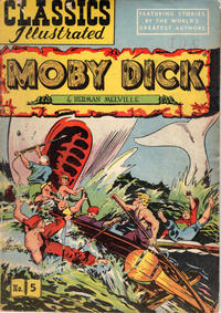 Cover Thumbnail for Classics Illustrated (Gilberton, 1947 series) #5 [HRN 60] - Moby Dick