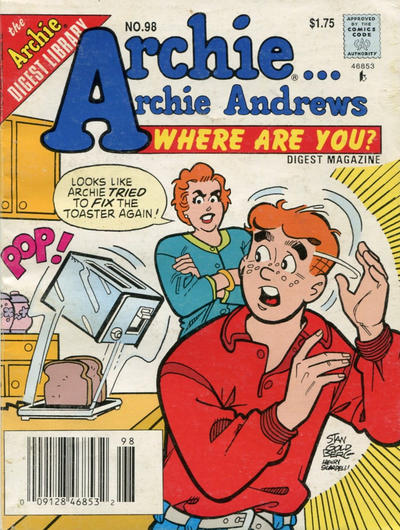 Cover for Archie... Archie Andrews Where Are You? Comics Digest Magazine (Archie, 1977 series) #98 [Newsstand]