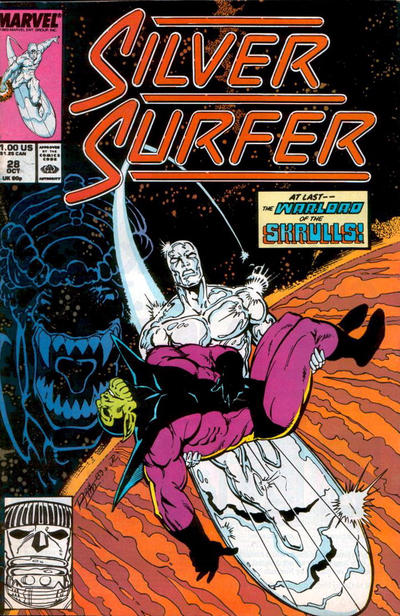 Cover for Silver Surfer (Marvel, 1987 series) #28 [Newsstand]